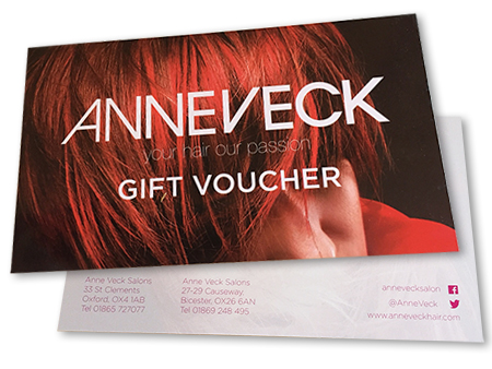 Send the gift of good hair with an Anne Veck Gift Voucher which can be used at our Oxford or Bicester Salons